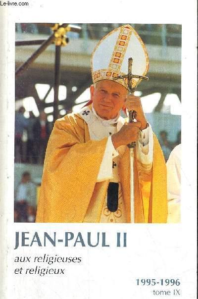 AUX RELIGIEUSES ET RELIGIEUX 1995 - 1996