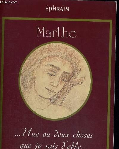 MARTHE - UNE OU DEUX CHOSES QU JE SAIS D ELLE