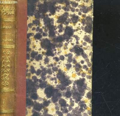OEUVRES DE JEAN RACINE - TOME 1 - DEUXIEME EDITION
