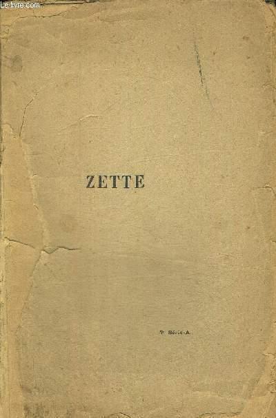 ZETTE - HISTOIRE D UNE PETITE FILLE