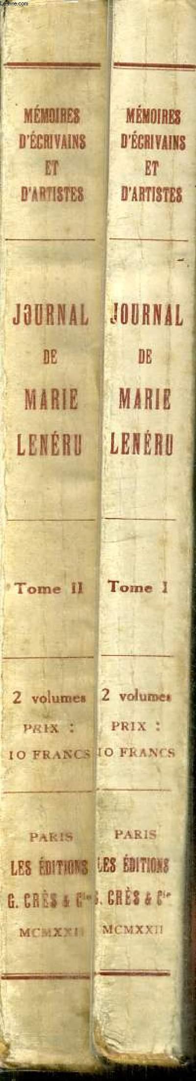 JOURNAL DE MARIE LENERU - PREFACE DE FRANCOIS DE CUREL - TOME PREMIER ET DEUXIEME EN 2 VOLUMES.
