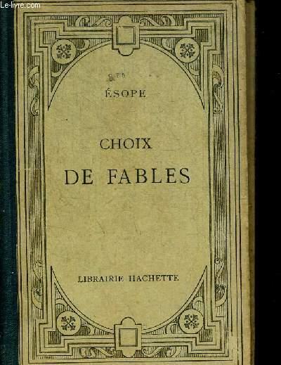 CHOIX DE FABLES - TEXTE GREC PAR F. ALLEGRE AVEC TRADUCTION ET NOTES EN FRANCAIS