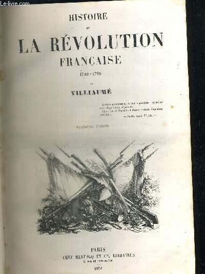 HISTOIRE DE LA REVOLUTION FRANCAISE 1798 - 1796
