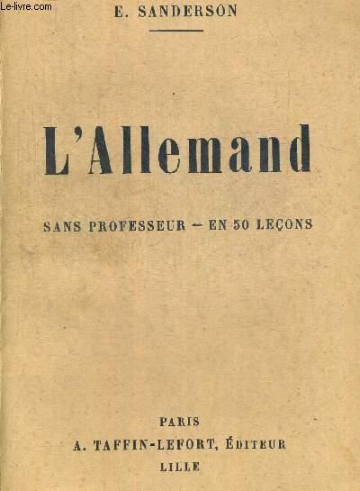 L ALLEMAND SANS PROFESSEUR EN 50 LECONS