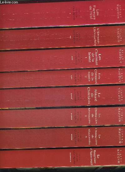 CYCLE DE GUI DE CLAIRBOIS EN 7 TOMES ET 9 VOLUMES. T1 LES FUREURS DE L ETE. T2 L ETRANGE CHEVAUCHEE. T3 LES CHEMINS DE LA HONTE PART 1 UN VENT DE GUERRE. PART2 A LA GRACE DE DIEU. T4 LE BATARD DE CLAIRBOIS. T5 LE CHAMP DE MONTENDRE PART1 LES PELERINS DU