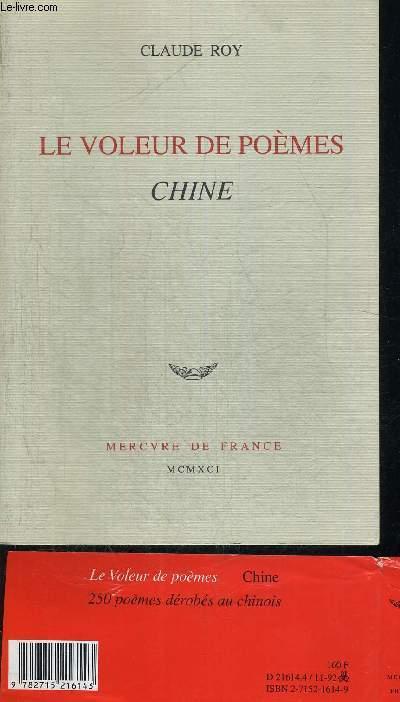 LE VOLEUR DE POEMES CHINE