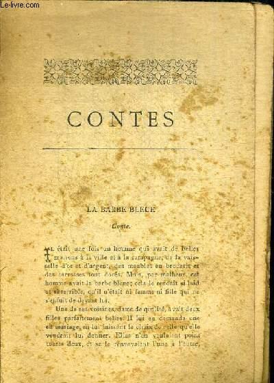 CONTES. LA BARBE BLEUE / LE CHAPERON ROUGE / LES FEES / LA BELLE AU BOIS DORMANT / LE MAITRE CHAT / CENDRILLON / RIQUET A LA HOUPPE / LE PETIT POUCET / PEAU D ANE