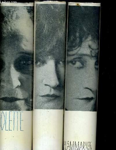 OEUVRES DE COLETTE EN 3 VOLUMES