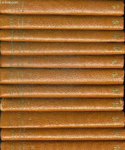 OEUVRES COMPLETES DE MOLIERE EN 11 VOLUMES. TEXTE ETABLI ET ANNOTE PAR GUSTAVE MICHAUT. DIRECTEUR LITTERAIRE RENE GROOS. DESSINS DE HENRI JADOUX