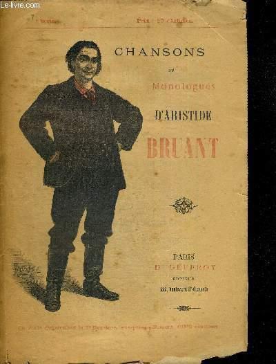CHANSONS ET MONOLOGUE D'ARISTIDE BRUANT