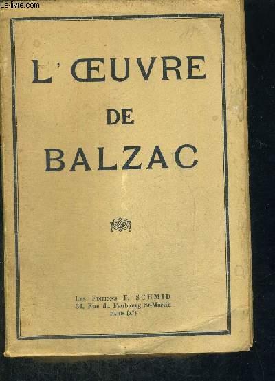 L'OEUVRE DE BALZAC