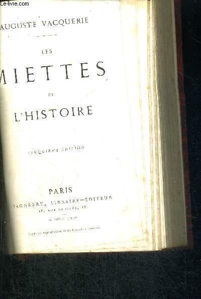 LES MIETTES DE L'HISTOIRE - 5EME EDITION