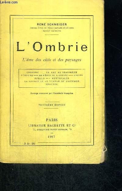 L'OMBRIE - L'AME DES CITES ET DES PAYSAGES