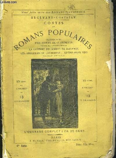 CONFIDENCES D'UN JOUEUR DE CLARINETTE - CONTES ET ROMANS POPULAIRES