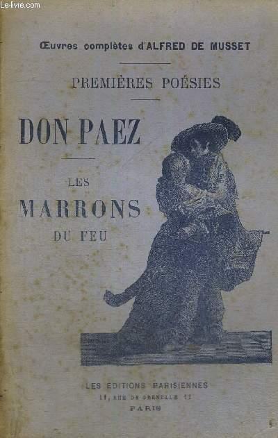 DON PAEZ - LES MARRONS DU FEU - PREMIERES POESIES