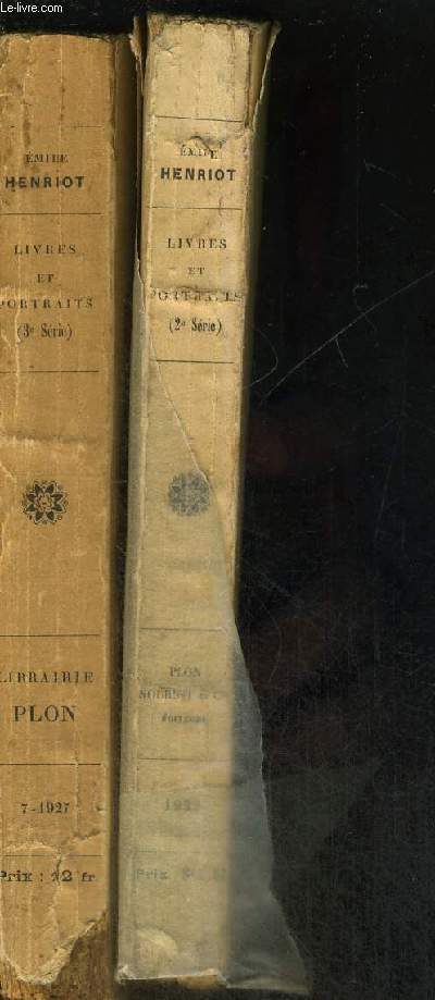 LIVRES ET PORTRAITS - COURRIER LITTERAIRE - 2 VOLUMES - TOMES 2 ET 3