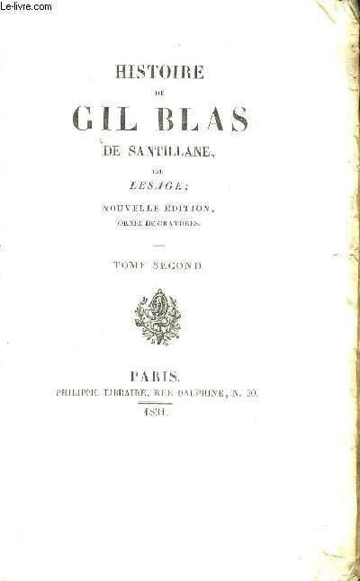 HISTOIRE DE GIL BLAS DE SANTILLANE - TOME SECOND - NOUVELLE EDITION