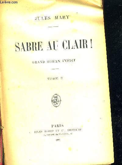 SABRE AU CLAIR - TOME 2