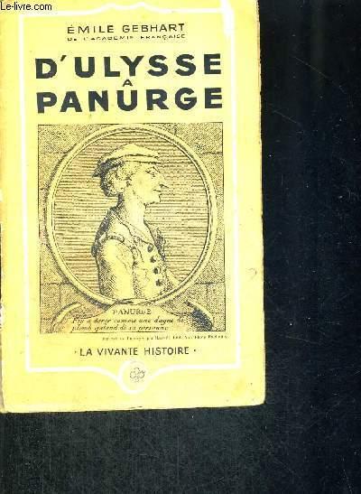 D'ULYSSE A PANURGE