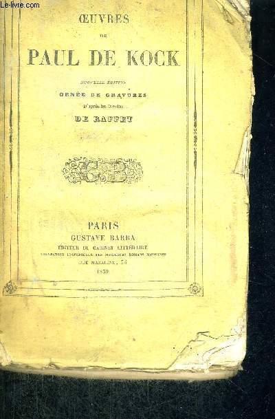 UN JEUNE HOMME CHARMANT - OEUVRES DE PAUL DE KOCK