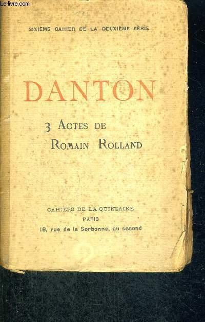 DANTON - 3 ACTES