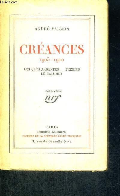 CREANCES -1905-1910 - LES CLES ARDENTES - FEERIES - LE CALUMET
