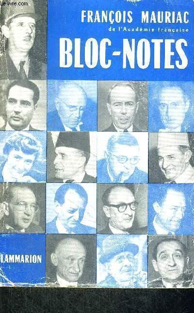 BLOC-NOTES 1952-1957