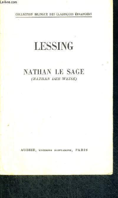 LE SAGE NATHAN - NATHAN DER WEISE