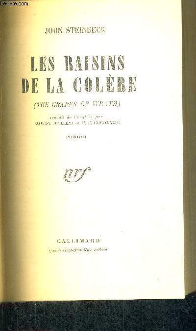 LES RAISINS DE LA COLERE - THE GRAPES OF WRATH