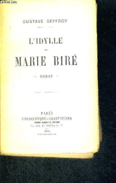 L'IDYLLE DE MARIE BIRE