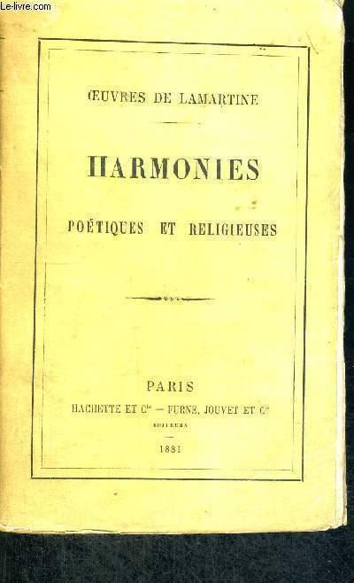 HARMONIES POETIQUES ET RELIGIEUSES- OEUVRES DE LAMARTINE