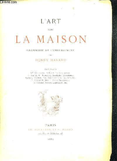 L'ART DANS LA MAISON - GRAMMAIRE DE L'AMEUBLEMENT
