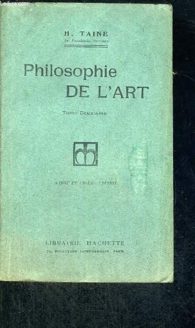 PHILOSOPHIE DE L'ART - TOME 2 - 21E EDITION