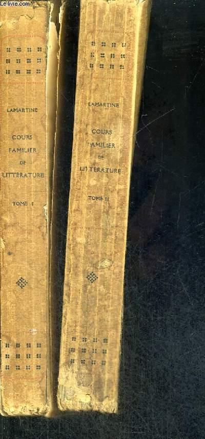 COURS FAMILIER DE LITTERATURE - EXTRAITS - 2 VOLUMES - TOMES 1 ET 2 - EXAMPLAIRE N°0216