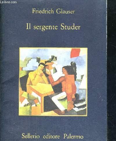 IL SERGENTE STUDER - LIVRE EN ITALIEN