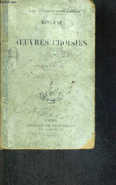 OEUVRES CHOISIES - 6EME EDITION