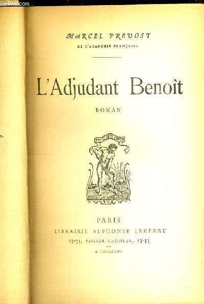 L'ADJUDANT BENOIT