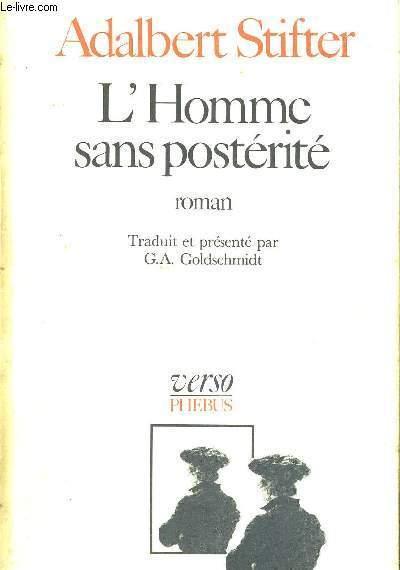 L'HOMME SANS POSTERITE