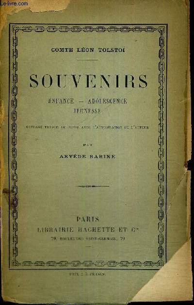 SOUVENIRS - ENFANCE - ADOLESCENCE JEUNESSE - 3EME EDITION