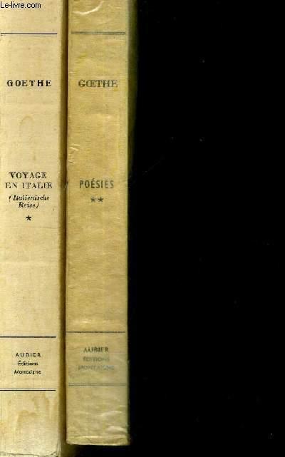 VOYAGE EN ITALIE - POESIES (DES ORIGINES AU VOYAGE EN ITALIE) - TOMES 1 ET 2 - 2 VOLUMES - COLLECTION BILINGUE