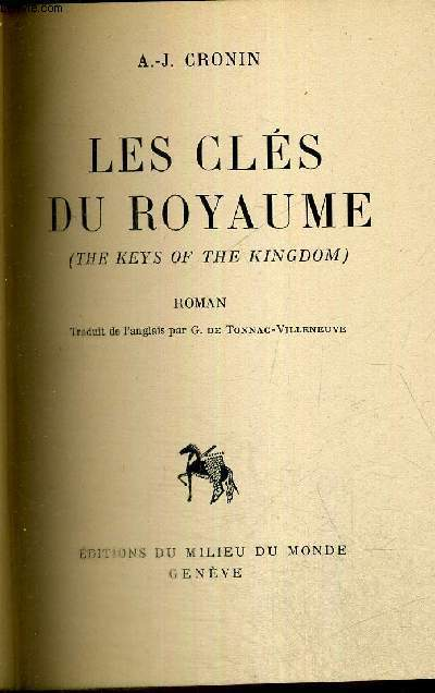 LES CLES DU ROYAUME - THE KEYS OF THE KINGDOM