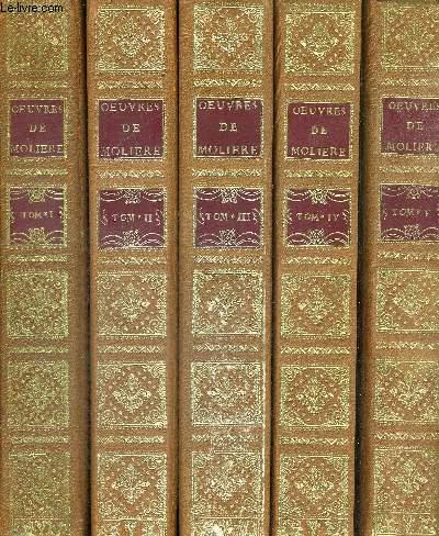 OEUVRES DE MOLIERE - TOMES 1 A 9 - NOUVELLE EDITION - 9 VOLUMES - EDITION POUR LE TRICENTENAIRE DE LA MORT DE MOLIERE - AVEC PRIVILEGE DE LA COMEDIE FRANCAISE