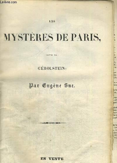 LES MYSTERES DE PARIS - SUIVIS DE GEROLSTEIN