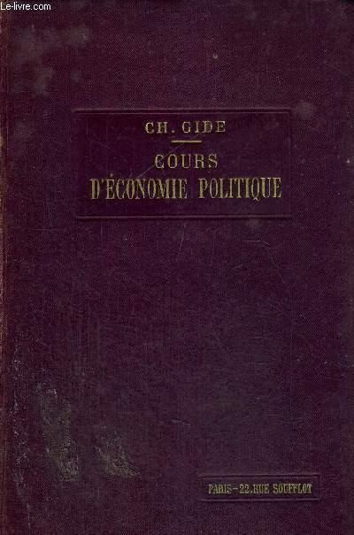 COURS D'ECONOMIE POLITIQUE - TOME 2 - 5EME EDITION