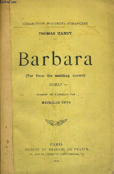 BARBARA - FAR FROM THE MADDING CROWD