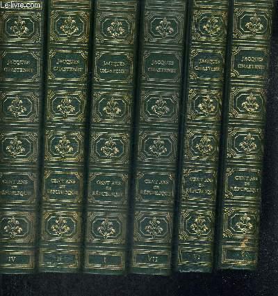 CENT ANS DE REPUBLIQUE - 6 VOLUMES - TOMES 1 ET 2 - TOMES 4 A 7. ABSENCES DE PLUSIEURS TOMES
