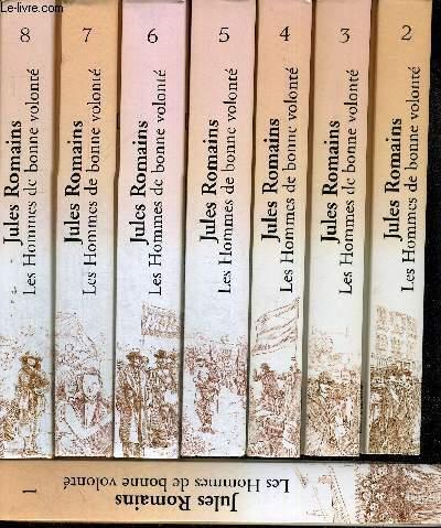 LES HOMMES DE LA BONNE VOLONTE - 8 VOLUMES - TOMES 1 A 8 - EDITION COMPLETE