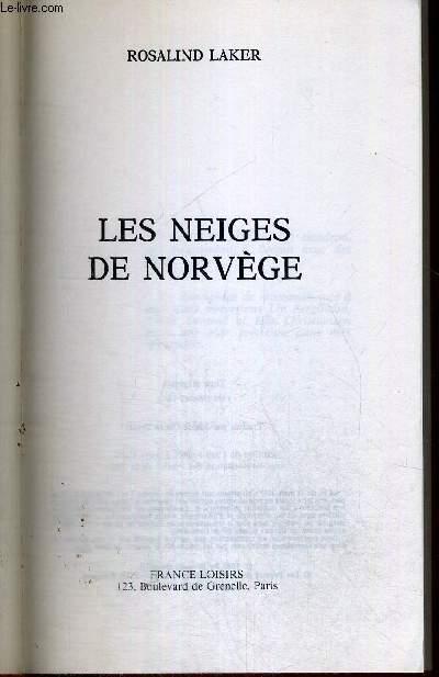 LES NEIGES DE NORVEGE