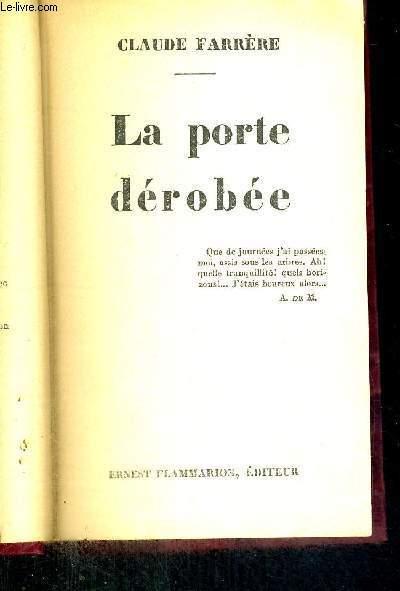 LA PORTE DEROBEE