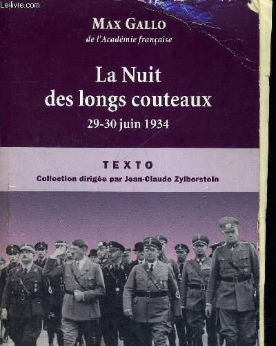 LA NUIT DES LONGS COUTEAUX - 29-30 JUIN 1934